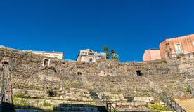 Ελληνικός-ρωμαϊκό θέατρο της Κατάνια σε Sicilia, Ιταλία Στοκ Εικόνα