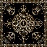 Ελληνικό βασικό σχέδιο mandala grunge με το πλαίσιο μαιάνδρου Στοκ Φωτογραφία