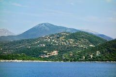 Ελληνικό Επτάνησο της Λευκάδας, άποψη από τη βάρκα στοκ φωτογραφίες