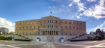 Ελληνικό κτήριο του Κοινοβουλίου, Αθήνα Στοκ εικόνες με δικαίωμα ελεύθερης χρήσης