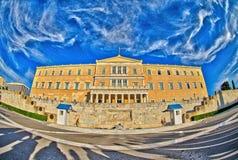 Ελληνικό κτήριο του Κοινοβουλίου Στοκ Φωτογραφία