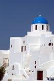 ελληνικό νησί εκκλησιών Στοκ φωτογραφία με δικαίωμα ελεύθερης χρήσης