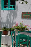 ελληνικό νησί gree folegandros των Κυκλάδων καφέδων Στοκ Φωτογραφίες
