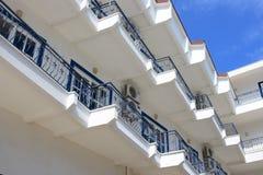 ελληνικό ξενοδοχείο της Κέρκυρας Στοκ Εικόνες