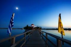 Ελληνικό παρεκκλησι dusk Στοκ Φωτογραφία