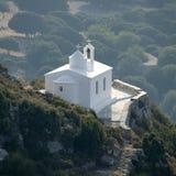 ελληνικό χωριό εκκλησιών Στοκ Φωτογραφία