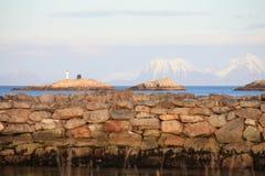 ελλιμενίζει henningsvaer την πέτρα Στοκ φωτογραφίες με δικαίωμα ελεύθερης χρήσης