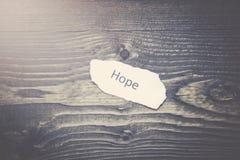 Ελπίδα σε χαρτί Στοκ εικόνες με δικαίωμα ελεύθερης χρήσης