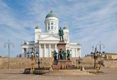 Ελσίνκι Φινλανδία λουθηρανικό τετράγωνο Συγκλήτου της Φινλανδίας Ελσίνκι κεντρικών πόλεων καθεδρικών ναών Στοκ Εικόνα