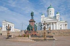 Ελσίνκι Φινλανδία λουθηρανικό τετράγωνο Συγκλήτου της Φινλανδίας Ελσίνκι κεντρικών πόλεων καθεδρικών ναών Στοκ φωτογραφία με δικαίωμα ελεύθερης χρήσης