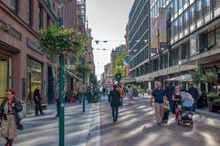 Ελσίνκι όπως είναι οδοί Καθημερινή ζωή της πόλης στοκ εικόνες με δικαίωμα ελεύθερης χρήσης