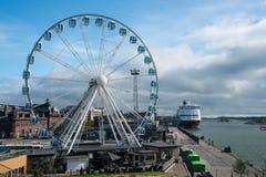 Ελσίνκι Skywheel από την ακτή Στοκ φωτογραφίες με δικαίωμα ελεύθερης χρήσης