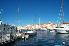 δεμένες βάρκες Στοκ Φωτογραφία