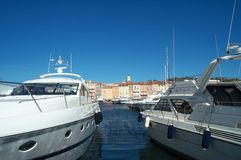 δεμένες βάρκες Στοκ Φωτογραφίες