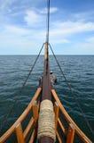 δεμένο τόξο σκάφος αγκυροβολίων Στοκ εικόνες με δικαίωμα ελεύθερης χρήσης