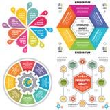 Εμβλήματα επιχειρησιακής έννοιας προτύπων στοιχείων Infographic για την παρουσίαση, το φυλλάδιο, τον ιστοχώρο και άλλο πρόγραμμα  διανυσματική απεικόνιση