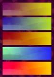 εμβλήματα ζωηρόχρωμα Διανυσματική απεικόνιση
