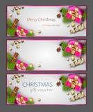 Εμβλήματα Ιστού Χριστουγέννων διανυσματική απεικόνιση