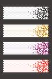Εμβλήματα με κόκκινους κίτρινους μαύρους πορφυρούς εξαγωνικό και το τρίγωνο Στοκ εικόνες με δικαίωμα ελεύθερης χρήσης