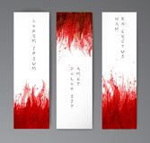 Εμβλήματα με τους κόκκινους παφλασμούς αίματος στο ρεαλιστικό υπόβαθρο εγγράφου ελεύθερη απεικόνιση δικαιώματος