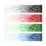 Εμβλήματα με το μαύρο μπλε κόκκινο άσπρο πράσινο βέλος. Στοκ Φωτογραφίες