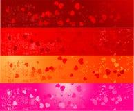 εμβλήματα τέσσερις καρδ&io απεικόνιση αποθεμάτων