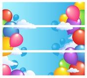 εμβλήματα 1 baloons Στοκ Εικόνες