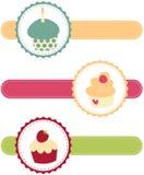 εμβλήματα cupcake απεικόνιση αποθεμάτων