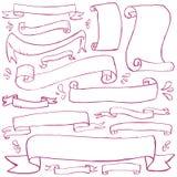 εμβλήματα doodle Στοκ φωτογραφία με δικαίωμα ελεύθερης χρήσης