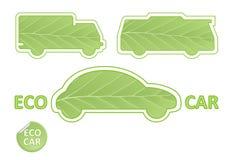 εμβλήματα eco αυτοκινήτων Στοκ Φωτογραφία