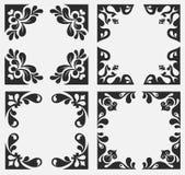 εμβλήματα floral Στοκ εικόνες με δικαίωμα ελεύθερης χρήσης