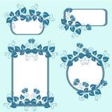 εμβλήματα floral διανυσματική απεικόνιση
