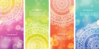 Εμβλήματα Mandala χρώματος Στοκ φωτογραφίες με δικαίωμα ελεύθερης χρήσης