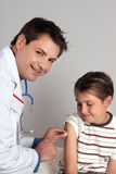 εμβολιασμός ανοσοποίη&sigm Στοκ φωτογραφία με δικαίωμα ελεύθερης χρήσης