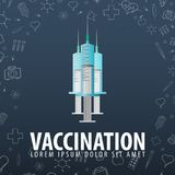 εμβολιασμός ιατρικό optometrist ματιών διαγραμμάτων ανασκόπησης η υγεία προσοχής όπλων απομόνωσε τις καθυστερήσεις Διανυσματική α διανυσματική απεικόνιση