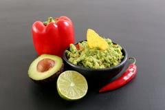 Εμβύθιση Guacamole στοκ φωτογραφία με δικαίωμα ελεύθερης χρήσης