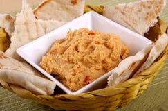 Εμβύθιση Hummus στοκ εικόνες με δικαίωμα ελεύθερης χρήσης