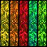 Εμβλήματα από τις λουρίδες του φυλλώματος Στοκ εικόνα με δικαίωμα ελεύθερης χρήσης
