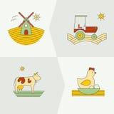 Εμβλήματα για την καλλιεργώντας επιχείρηση Στοκ εικόνες με δικαίωμα ελεύθερης χρήσης