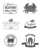 Εμβλήματα εστιατορίων θαλασσινών Στοκ φωτογραφία με δικαίωμα ελεύθερης χρήσης