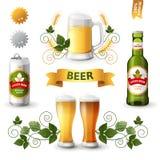 Εμβλήματα μπύρας διανυσματική απεικόνιση