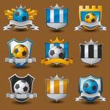 Εμβλήματα ομάδων ποδοσφαίρου διανυσματική απεικόνιση