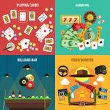 Εμβλήματα παιχνιδιών παιχνιδιού καθορισμένα ελεύθερη απεικόνιση δικαιώματος