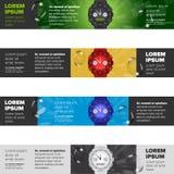 Εμβλήματα που τίθενται με τα ρολόγια Στοκ εικόνα με δικαίωμα ελεύθερης χρήσης