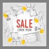 Εμβλήματα πώλησης, διανυσματικές απεικονίσεις, αφίσες Στοκ Φωτογραφίες