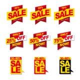 Εμβλήματα πώλησης Στοκ εικόνα με δικαίωμα ελεύθερης χρήσης