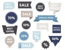 Εμβλήματα πώλησης Στοκ Εικόνες