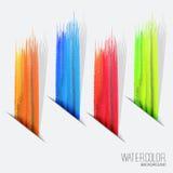 Εμβλήματα σχεδίου Watercolor Στοκ φωτογραφία με δικαίωμα ελεύθερης χρήσης