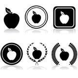 Εμβλήματα της Apple Στοκ φωτογραφία με δικαίωμα ελεύθερης χρήσης