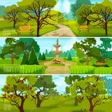 Εμβλήματα τοπίων κήπων ελεύθερη απεικόνιση δικαιώματος